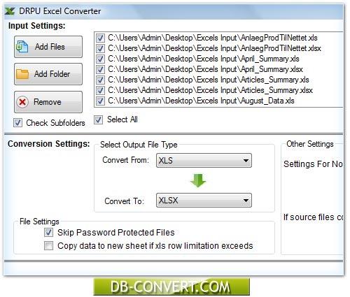 Excel converter software convert XLS files conversion